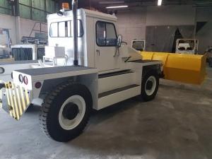 NMC- Wollard MB-4 Aircraft Tug/ Snow Plow Truck: Rear Passengerside
