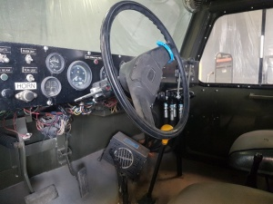 NMC- Wollard MB-4 Aircraft Tug/ Snow Plow Truck: Drivers Seat
