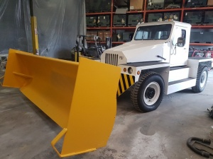 PSI MB-4 Aircraft Tug/ Snow Plow Truck: Front Driver side