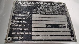 2002 Harlan HTLPAG 80 data plate