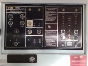 FMC Trump 2000 Aircraft Deicer Truck Control Panel
