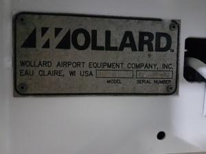 Wollard TC888 Belt Loader data plate